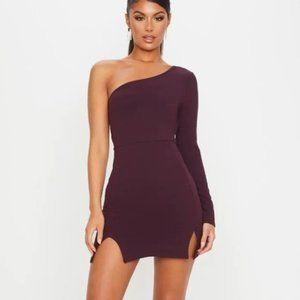 NWT – One Shoulder Double Split Hem Bodycon Dress